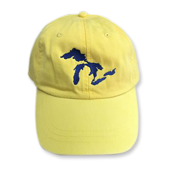 Great Lakes Embroidered Ball Cap - Lemon