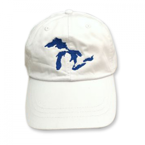 Great Lakes Embroidered Ball Cap - White