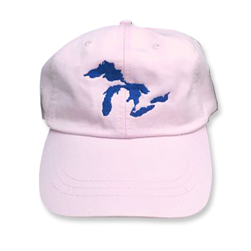 Great Lakes Embroidered Ball Cap - Light Pink