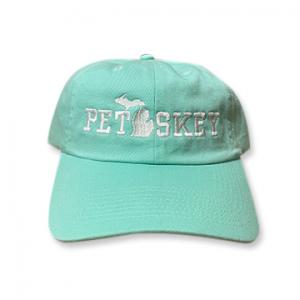 Petoskey Hat - Aqua Embroidered Michigan Lower Peninsula