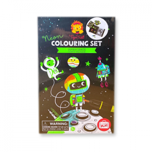 Neon Coloring Set - Outerspace