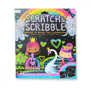 Scratch and Scribble Princess Garden Drawing Color