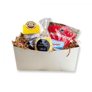 Sweet Treat Gift Box Lemon Drops malted milk balls chocolate cover pretzels