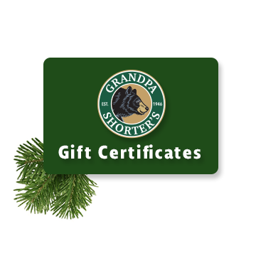 Grandpa Shorters Gift Card Gift Certificate Up North Gift Shop