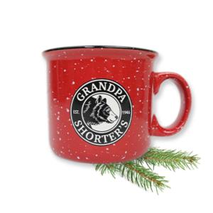 Grandpa Shorters Camper Camp Mug Coffee Tea Soup Bear Logo Red