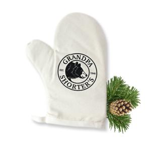 Grandpa Shorter's Oven Mitt Cream Bear Logo Pots Pans