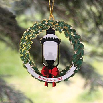 Grandpa Shorter's Gaslight Christmas Ornament 3D Metal
