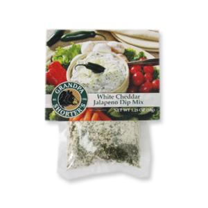 Grandpa Shorter's White Cheddar Jalapeño Dip Mix Sour Cream Vegetable Veggie