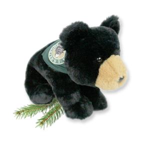 Carlos the Bear Grandpa Shorter's Mascot Black Bear Green Bandana Stuffed Animal