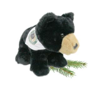 Carlos the Bear Grandpa Shorter's Mascot Black Bear White Bandana Stuffed Animal