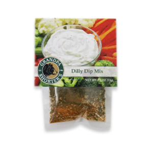 Grandpa Shorter's Dilly Dip Mix Add Sour Cream and Mayonnaise Veggie Chip Dip