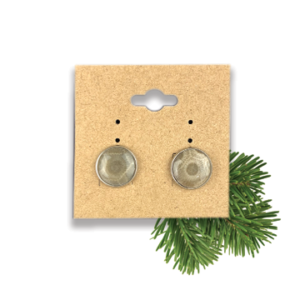 Petoskey Stone Stud Earring Small Stainless Steel
