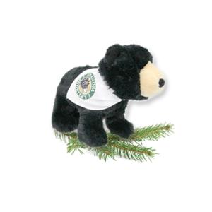 Tiny Carlos the Black Bear Grandpa Shorter's Gifts Stuffed Animal with White Bandana