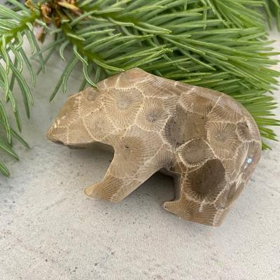 Bear Petoskey Stone - D