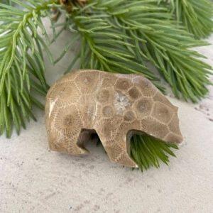 Bear Petoskey Stone - H
