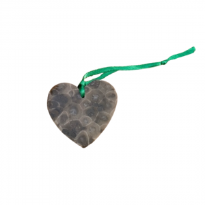 Heart Petoskey Stone Ornaments