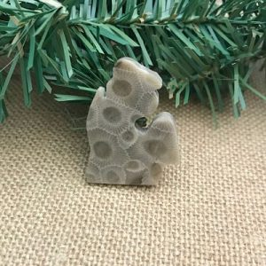 Small Lower Peninsula Petoskey Stone Magnet D