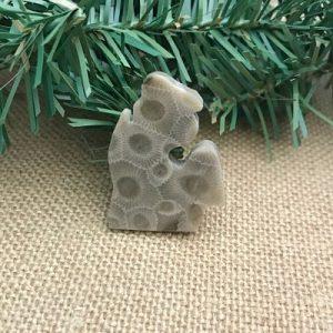 Small Lower Peninsula Petoskey Stone Magnet D