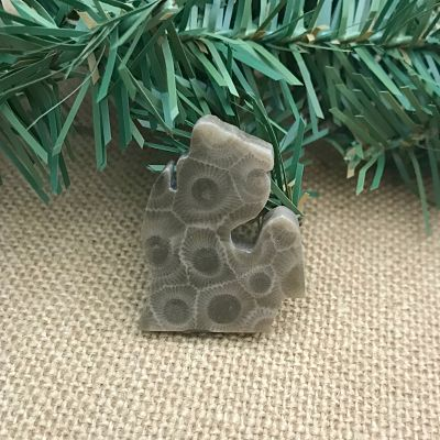 Small Lower Peninsula Petoskey Stone Magnet I