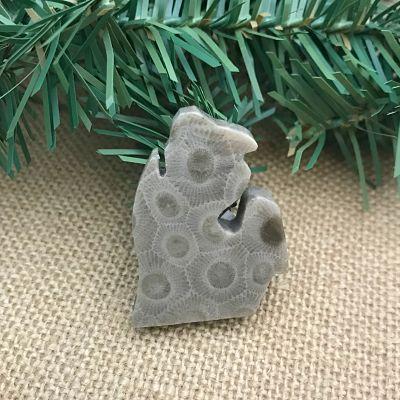 Small Lower Peninsula Petoskey Stone Magnet M