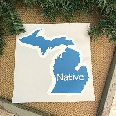 Michigan Native Decal Sticker