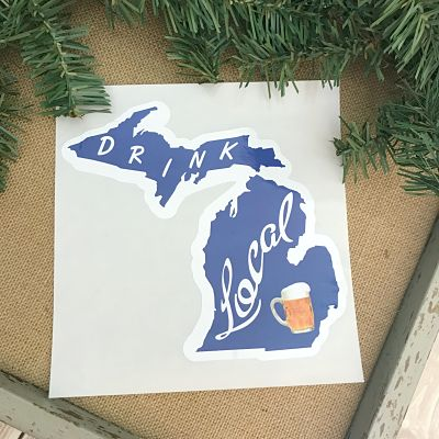 Drink Local Michigan Decal Sticker