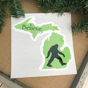 Michigan Big Foot Decal Sticker