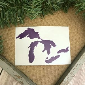 Great Lakes Proud Sticker - Purple