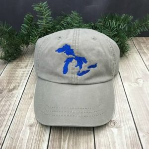 Great Lakes Embroidered Ball Cap - Stone