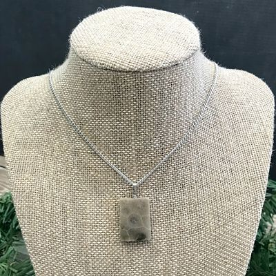 Petoskey Stone Rectangle Pendant Necklace