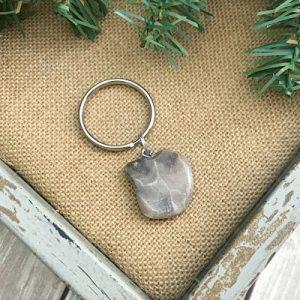 Petoskey Stone Keychain H
