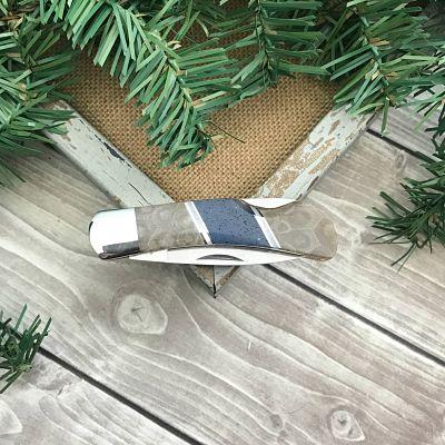 Petoskey Stone & Leland Blue Pocket Knife B
