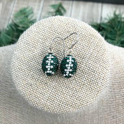 MSU Crystal Drop Earrings
