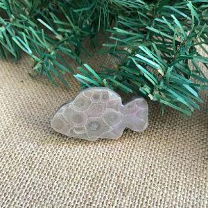 Fish Petoskey Stone Magnet F