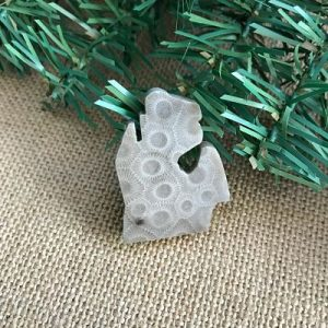Small Lower Peninsula Petoskey Stone Magnet C