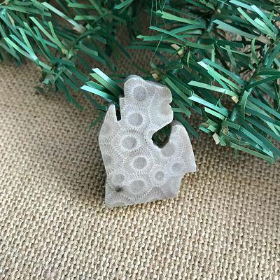 Small Lower Peninsula Petoskey Stone Magnet C
