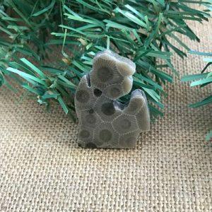 Small Lower Peninsula Petoskey Stone Magnet X