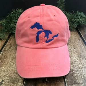 Great Lakes Embroidered Ball Cap - Coral