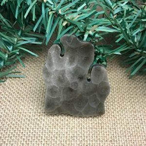 Lower Peninsula Petoskey Stone Magnet K