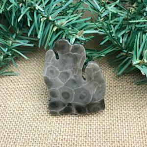 Lower Peninsula Petoskey Stone Magnet H1
