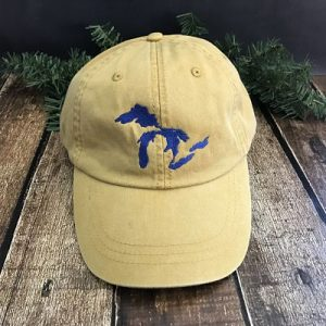 Great Lakes Embroidered Ball Cap - Mustard