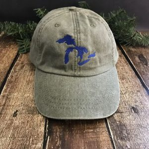 Great Lakes Embroidered Ball Cap - Cactus