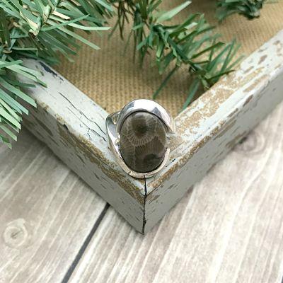 Petoskey Stone Ring D - Size 6