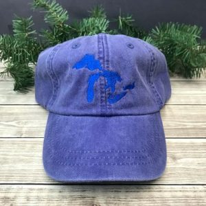 Great Lakes Embroidered Ball Cap - Purple