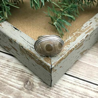 Petoskey Stone Adjustable Ring C