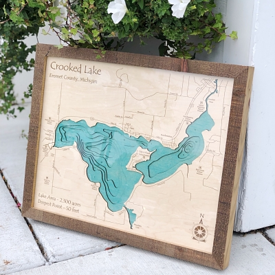 Crooked Lake 3-D Lake Art