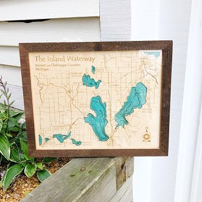 Inland Lakes 3-D Lake Art