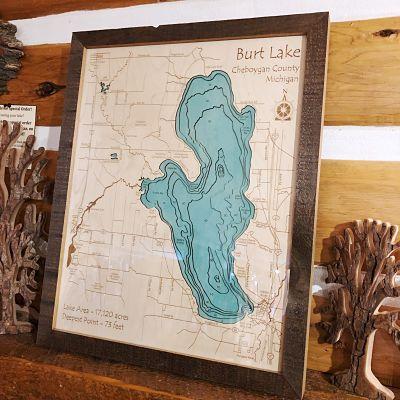 Burt Lake 3-D Lake Art