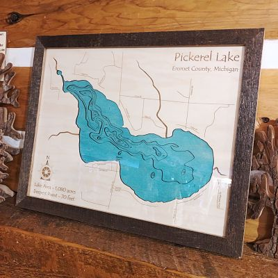 Pickerel Lake 3-D Lake Art