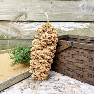 Giant Pinecone Bird Feeder